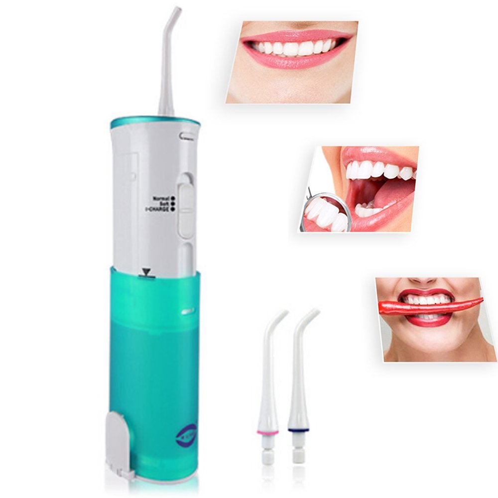 JHDLY Portable Dental Water Flosser,Oral Irrigator,Dental Hygiene Tool Care, Inductive Charging - Cordless Freedom - Rechargeable Waterproof Oral Irrigator