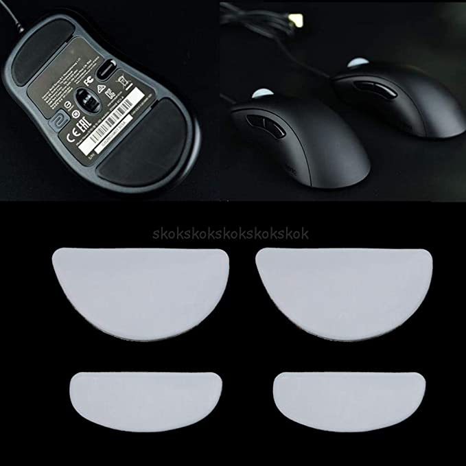 2 Sets//pack Tiger Gaming Mouse Feet Mouse Skate For ZOWIE EC1-A//EC2-A//EVO Gaming Mouse White Teflon Mouse Glides Curve Edge My20 JohnnyBui