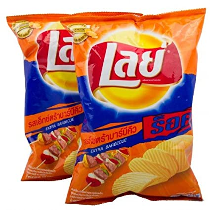 Lays chips Hojas de patata extra barbacoa Sabor 55 G ...