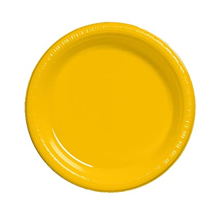 Exceptionnel Creative Converting Touch Of Color 20 Count Plastic Dinner Plates, School  Bus Yellow