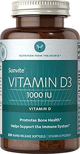 Vitamin World Vitamin D3 1000 IU 250 Softgels