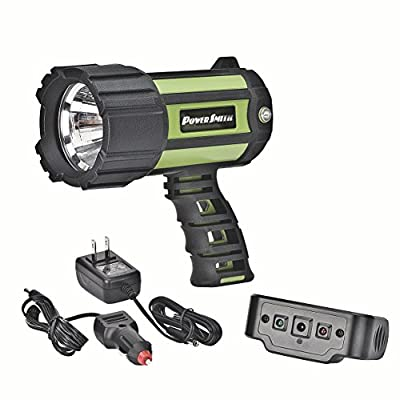 PowerSmith PSL10700W 700 Lumen Floatable Waterproof Rechargeable Lithium Ion Battery Powered Led SpotLight for Marine, Camp, RV, Emergency use with Ergonomic Handle