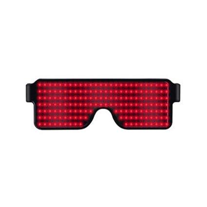 AAVBR Cool LED con Luz Gafas , Recargable USB Parpadeantes ...