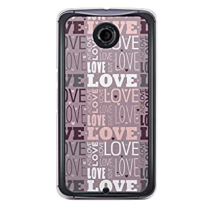 Loud Universe Nexus 6 2015 Love Valentine Printing Files A Valentine 190 Printed Transparent Edge Case - Purple