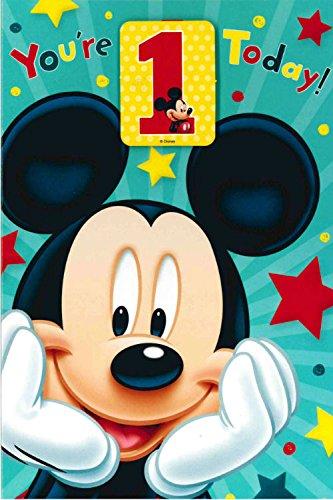 Carlton Disney S Mickey Mouse 1 Geburtstag Mit Kostenlosen Badge