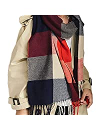 Boys Girls Cashmere Shawl Scarf, Lightweight Fashion Warm Stole and Blanket Stole