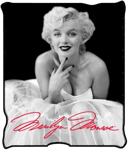 Silver Buffalo MR3627 Marilyn Monroe Ballerina Dress Plush Throw Blanket, 50 in. x 60 in. well-wreapped