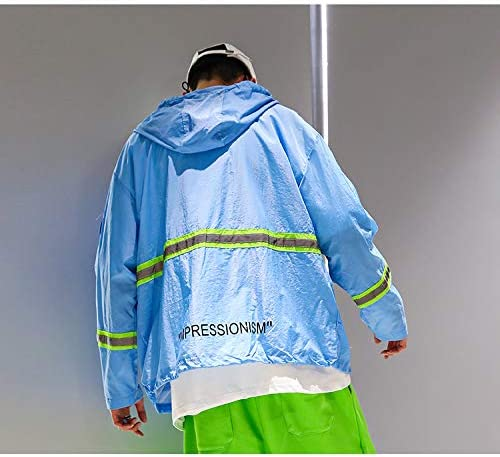 MOKEWEN Mens Cyberpunk Tactical Combat Cargo Jacket with Pocket