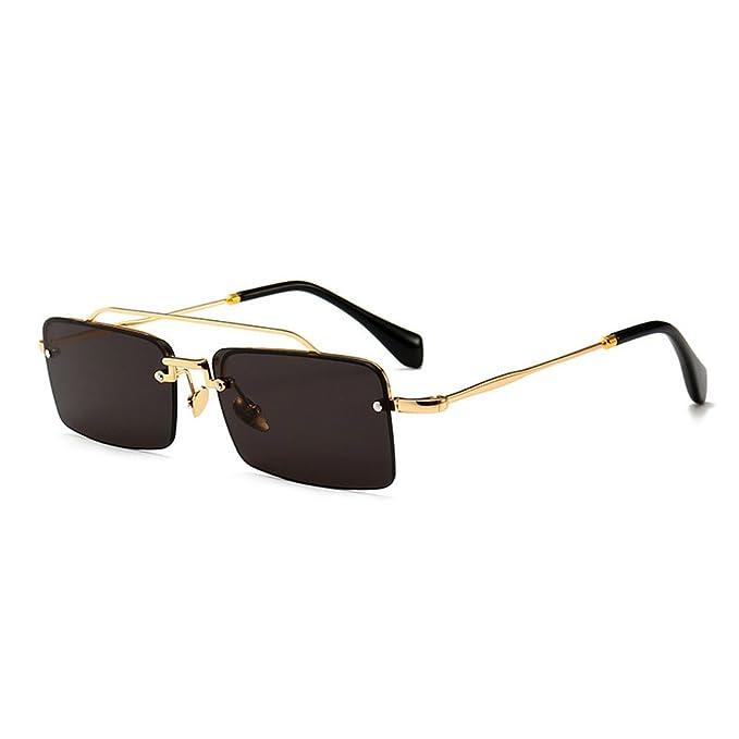 a4120c63174c MINCL 2018 Hot Sale Fashion Rectangular Shape Sunglasses Womens Vintage  Designer Shades UV400 (black