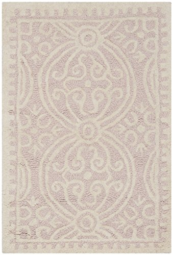 (Safavieh Cambridge Collection CAM123M Handcrafted Moroccan Geometric Light Pink and Ivory Premium Wool Area Rug (2'6
