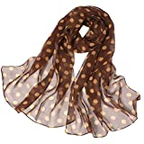 Scarf for Women Knitted Women Scarf Woven Dotted silk scarf Featurestop