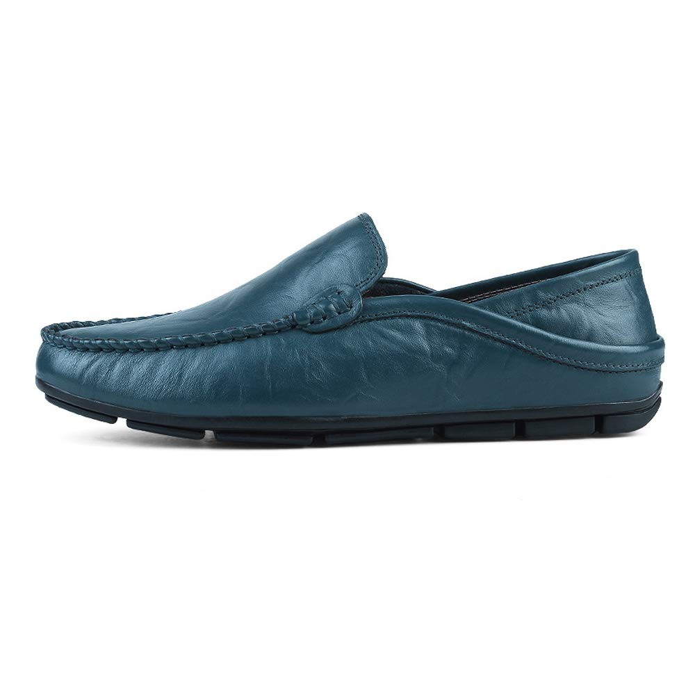 Xiaojuan schuhe, Männer Mokassins Wave Sole Soft Fashion & Driving Super Light Slip On Driving & Loafer, Frühjahr/Sommer 2018 (Farbe : Blau, Größe : 44 EU) bfb7b0