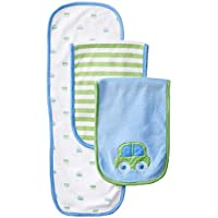 Gerber Baby Boys' 3 Pack Terry Burp Cloths, Blue, One Size