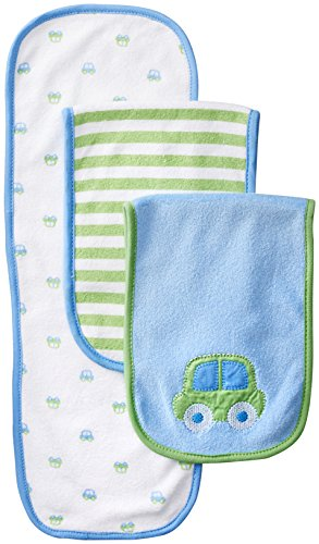 Gerber Baby Boys' 3 Pack Terry Burp Cloths, Blue, One Size (Boys Terry Cloth)