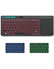 Rii Wireless Keyboard,Touchpad Keyboard,3-Colors Backlight Keyboard, BigTouch Trackpad,Rechargeable Keyboard for Android TV Box,Smart TV,Xbox,Raspberry Pi,PC,Tablet,HTPC,Android,Windows,MacOS.