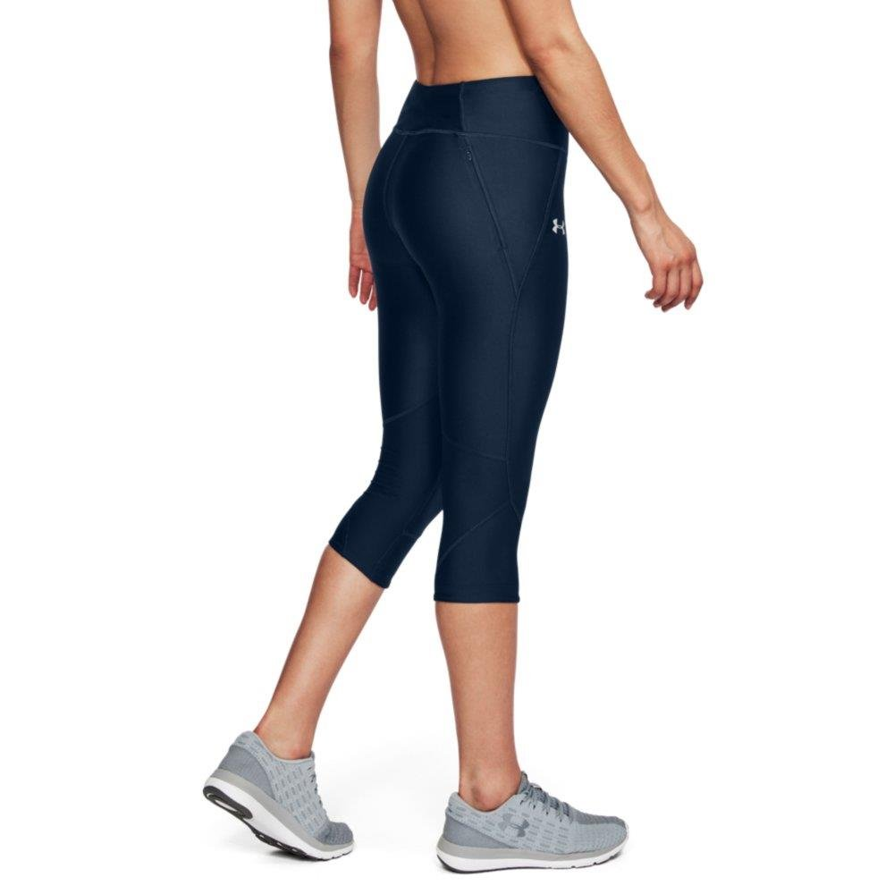 Under Armour Women's Armour Fly Fast Capris, Academy /Reflective, X-Small by Under Armour (Image #2)