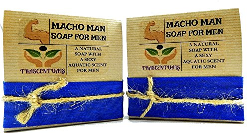 Macho Man Soap For Men Comes In Gift Box Handmade With Natural Ingredients Like Coconut Oil and Kaolin Clay (2 - Sunglasses Subscription