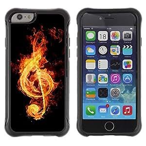 Suave TPU GEL Carcasa Funda Silicona Blando Estuche Caso de protección (para) Apple Iphone 6 PLUS 5.5 / CECELL Phone case / / Fire music notation /