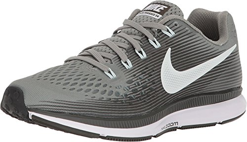 NIKE Women's Air Zoom Pegasus 34 Running Shoe Grey (8.5)