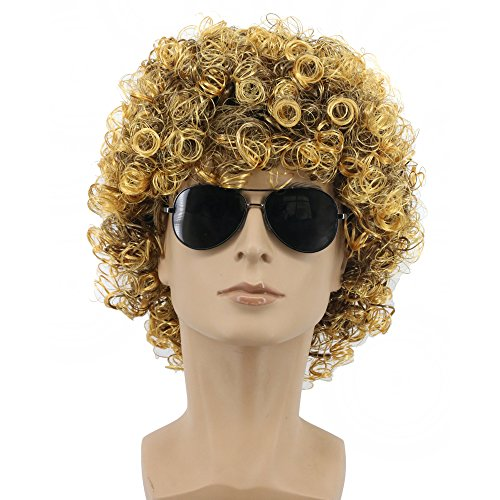 Yuehong 70s 80s Party Funky Disco Mens Afro Wig Halloween Costume (Male) -