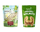 Organic Nuts Bundle with Organic Cashews W-240, 1 Pound and Organic Walnuts, 1 Pound — Whole, Raw