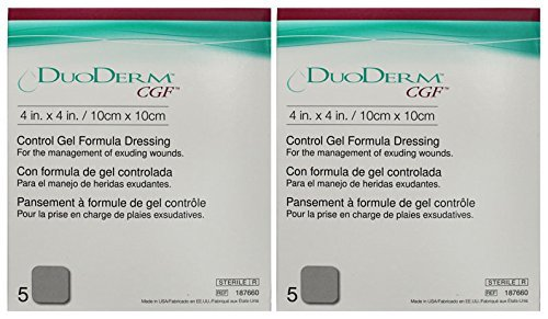 "ConvaTec DuoDerm CGF 4"" x 4"" Control Gel Formula Dressing 10 (2 Boxes) from ConvaTec"
