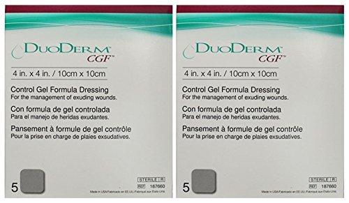 ConvaTec DuoDerm CGF 4'' x 4'' Control Gel Formula Dressing 10 (2 Boxes)