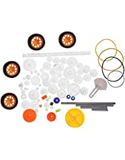 Gears, 78pcs Plastic Gears, Pulley Belt Worm Rack Kits, Gear Set Shaft Belt DIY Set Accessories, with Small Size, Wearable and Long Service Life, Different Sizes