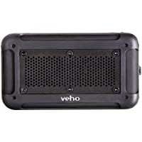 Veho VXS-001-BLK 360° Vecto Wireless Water Resistant Outdoor Speaker with 6000mAh Powerbank, Microphone and MP3 player