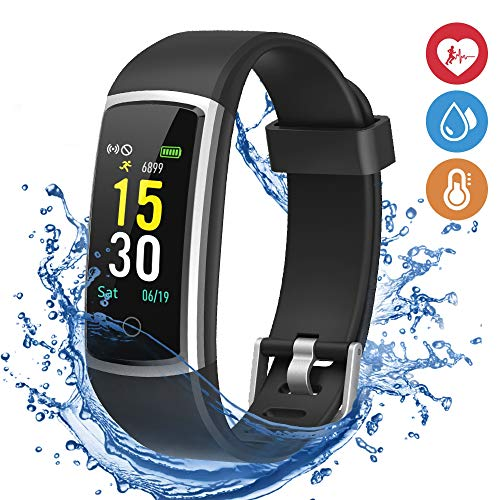 moreFit Waterproof Activity Tracker, Fitness Tracker Color Screen Smart  Watch, Blood Pressure Watch with Sleep Monitors, Heart Rate Calorie  Pedometers