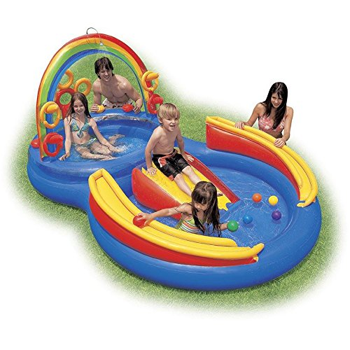 Inflatable Rainbow Ring Play Center Pool