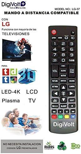 JPWOnline - Mando a distancia compatible con LG Digivolt LG-37: Amazon.es: Electrónica