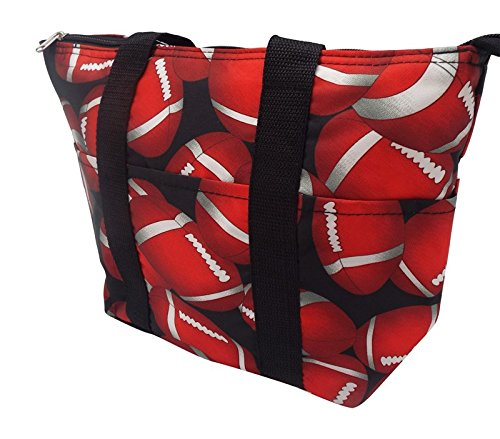 Womens Thermal Insulated Lunch Tote Bag (Football)