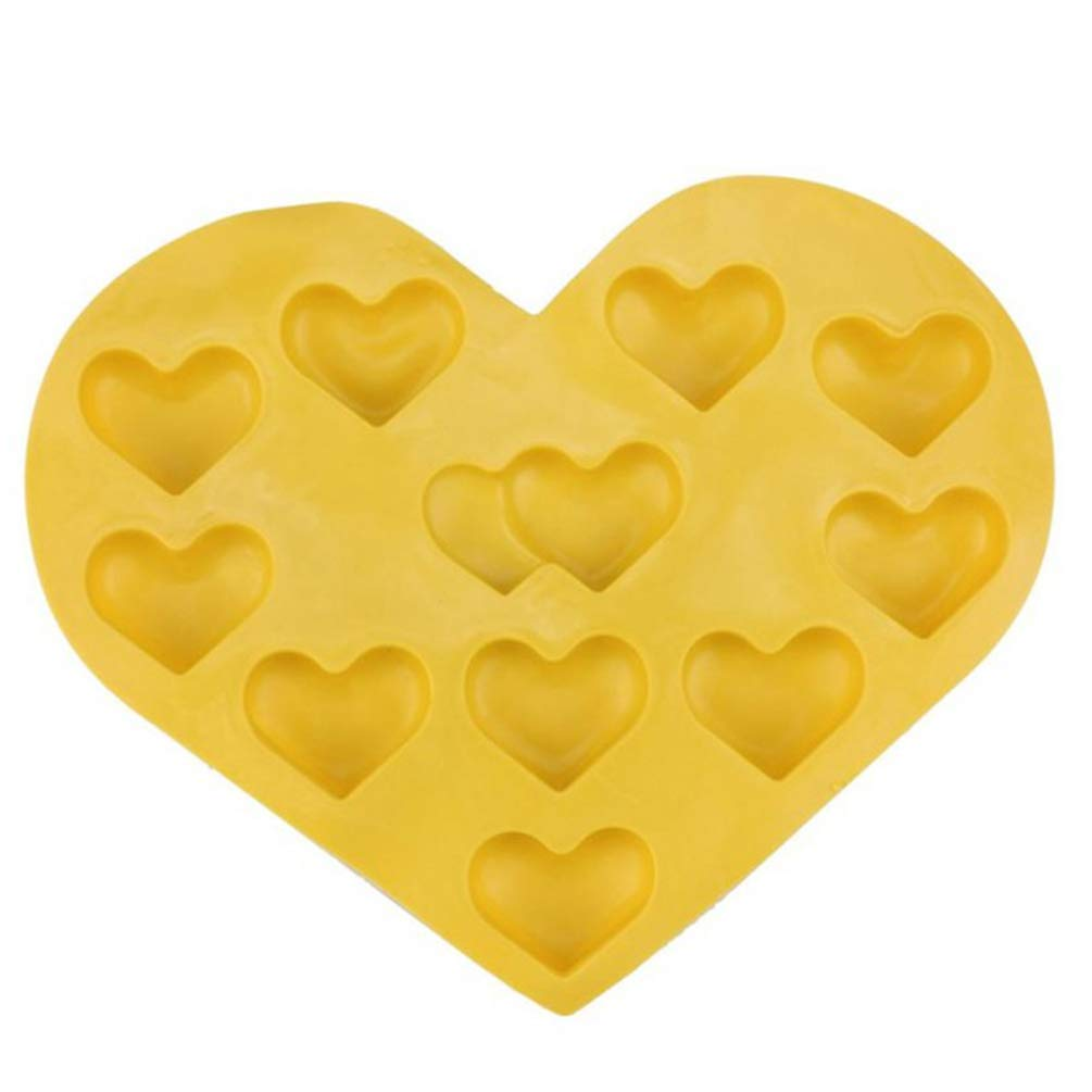 Heart Shape Cube Tray Freeze Mould 2Packs Jelly Pudding Chocolate Mold Silicone Colorful Ice Ball Ice Cube Mold