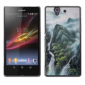 """For Sony Xperia Z , S-type Pintura de paisaje chino"""" - Arte & diseño plástico duro Fundas Cover Cubre Hard Case Cover"""