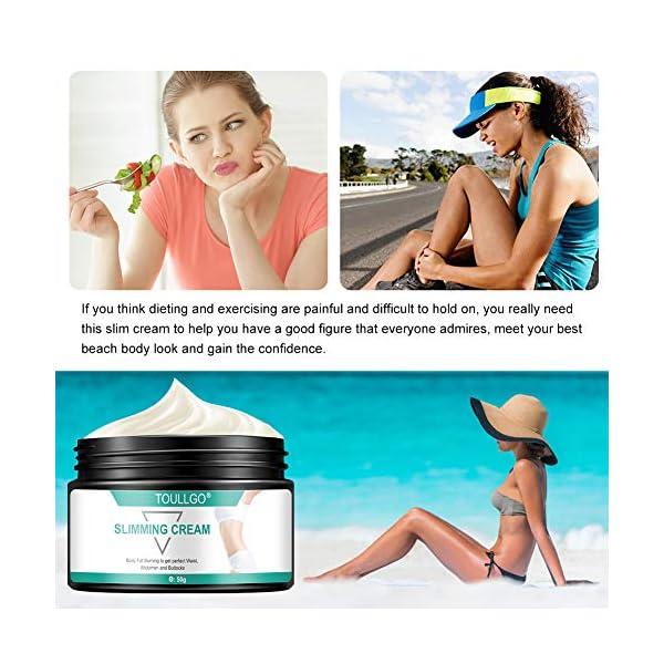 Slimming Cream, Hot Cream, Fat Burning Cream, Best Weight Loss Cream, Slimming Tightening Cream for Shaping Waist, Abdomen and Buttocks, 50g 51FeiXWQE5L