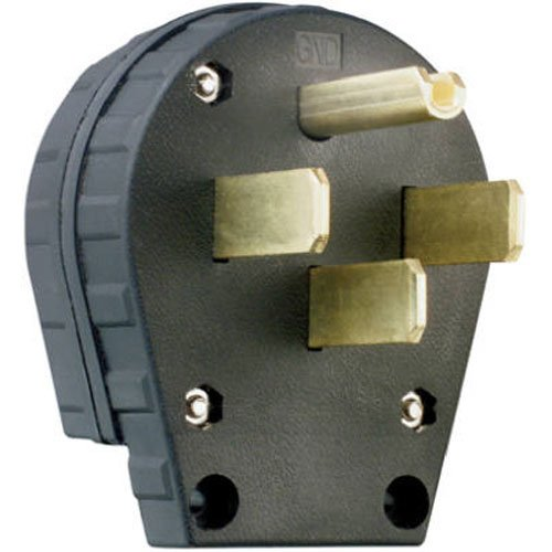 Legrand-Pass & Seymour 3867CC5 Angle Plug Three Pole Four Wire 30-Amp/50-Amp 125-volt/250-volt