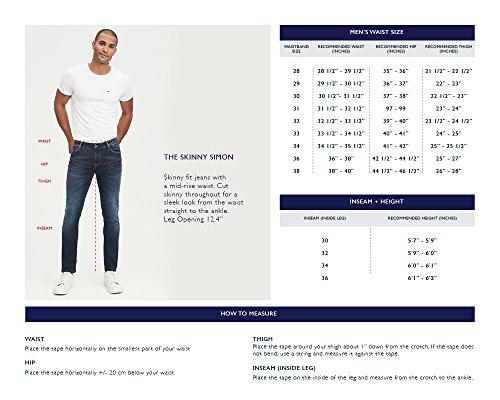 374296418 Tommy Hilfiger Denim Men's Jeans Original Simon Dynamic Stretch Skinny Fit  Jean, DYNAMIC SANDIEGO BLUE
