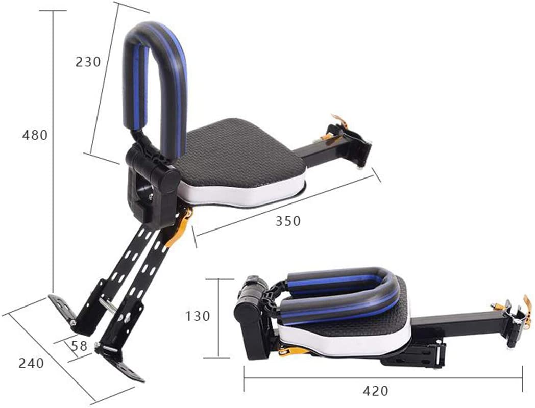 HMANE Child Seat for Bike Front Mount Foldable Safety Seat for Bicycle