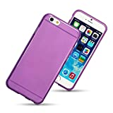 Hamdis Hybrid Case for Apple iPhone 6 Flexishield TPU Gel Skin Protective Cover - Purple