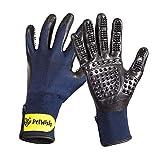 PetWish Pet Grooming Gloves - Long Short Hair Fur Removal...