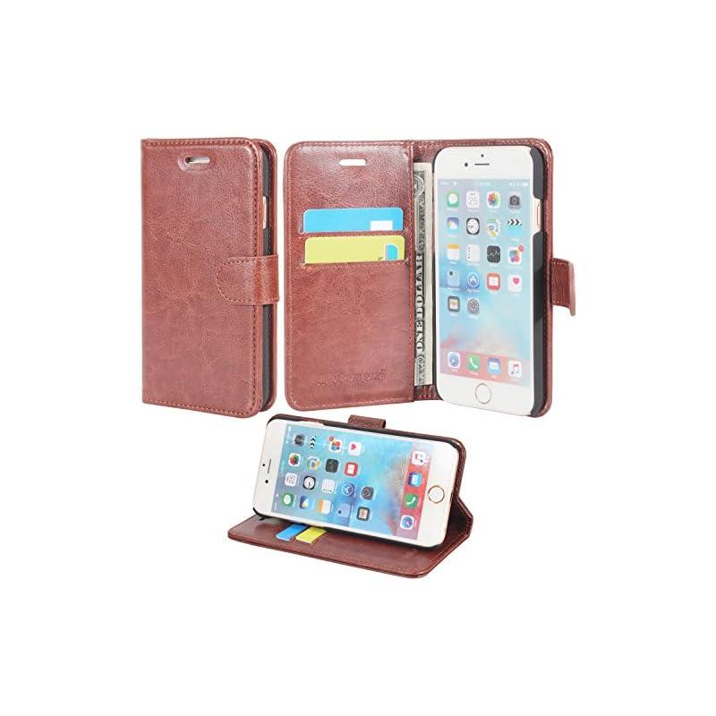 iPhone 6 / 6s Case, Wisdompro Premium PU