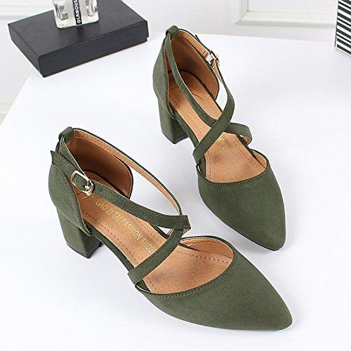 Single Shoes Spring Women 6Cm Heels In Spikes Jokes High Heels Shoes green KPHY Xx06wFX