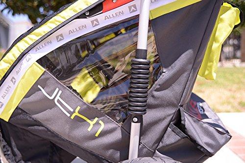 Allen Sports JTX-1 Trailer/Swivel Wheel Jogger, Green by Allen Sports (Image #4)