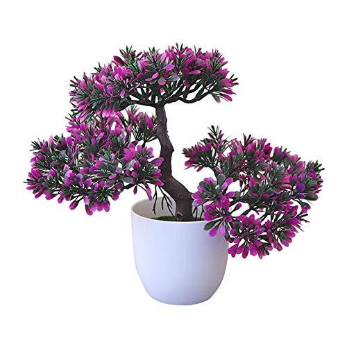 Fablcrew. Planta artificial con maceta Ganoderma Lucidum Árbol Bonsai de Artificial Interior Decoracion para Salon Mesa Comedor Habitacion Oficina