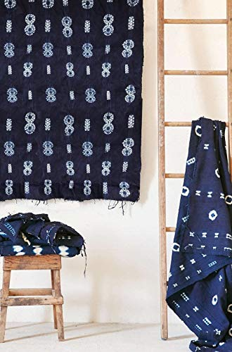 Indigo Tie Dye Tapestry Wall Hanging Mudcloth Sofa Throw,44i