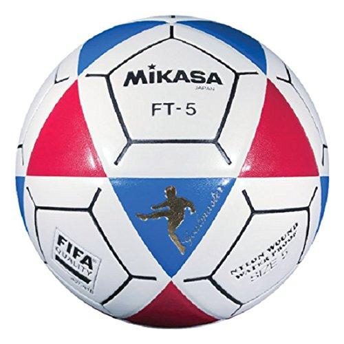(Mikasa FT5 Goal Master Soccer Ball, Blue/Red/White, Size 5)