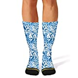 Ouawjdff Cute Blue Tropical Fashion Womens/mens Sporty Compression Socks