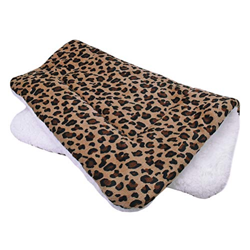 Kuntrona Warm Winter Dog Bed Mat Puppy Cat House Kennel Small Medium Large Dogs Beds Christmas Sleeping Blanket Chihuahua Snowflake Print Leopard XL