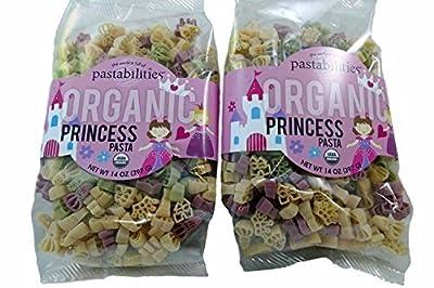 Kids Organic Princess Pasta - Crown, Castle, Princess Noodle Shapes - non GMO - 2 Packages, 14 Ounces Each